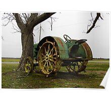 Deere On The Prairie Poster