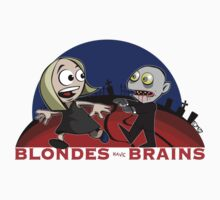 Blondes Have Brains Kids Tee