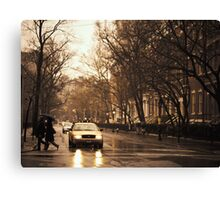 Rain - Greenwich Village - New York City Canvas Print