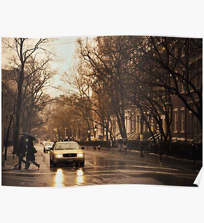 Rain - Greenwich Village - New York City Poster
