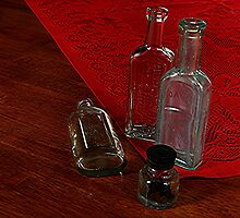 FOUR OLD BOTTLES........! by Roy  Massicks