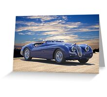 1951 Jagura XK 120 ' Roadster 'Rally Prepped' Greeting Card