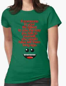 IF SOMEONE (RED) Womens Fitted T-Shirt
