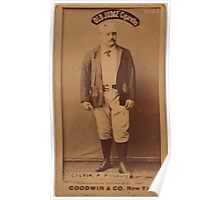 Benjamin K Edwards Collection Pud Galvin Pittsburgh Alleghenys baseball card portrait Poster