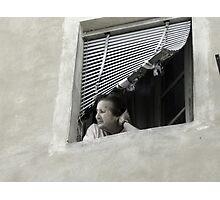 Women in Siena Window Photographic Print