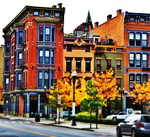Row of Buildings - Downtown Cincinnati by Alex Baker