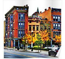Row of Buildings - Downtown Cincinnati Poster