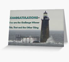 Challenge Winner - Lighthouse Greeting Card