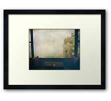 I Just Sat There Staring Out at the Fog Framed Print