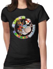 Super Jurassic Galaxy Gaming Adventure Mashup Womens Fitted T-Shirt