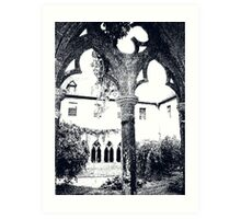 Medieval inner garden Art Print