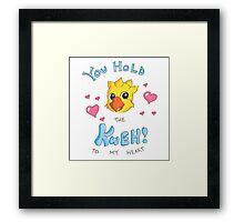 Chocobo Kweh! Love Design Framed Print