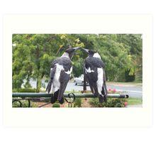 Juvenile Magpies Art Print