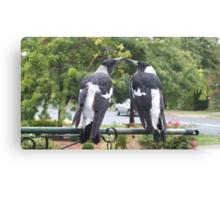 Juvenile Magpies Canvas Print