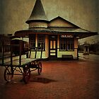 New Hope & Ivyland Railroad Station by Debra Fedchin