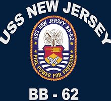 USS New Jersey (BB-62) Crest for Dark Colors by Spacestuffplus
