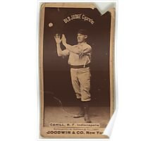 Benjamin K Edwards Collection John Cahill Indianapolis Hoosiers baseball card portrait 001 Poster