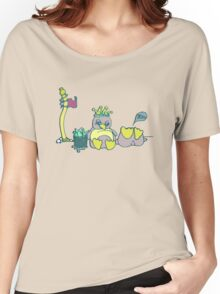 Penguin Capture the flag- defend with snowballs- snack with boredom Women's Relaxed Fit T-Shirt