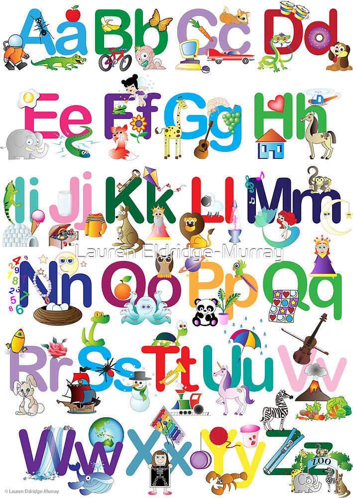 Alphabet for kids by Lauren Eldridge-Murray