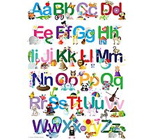 Alphabet for kids Photographic Print