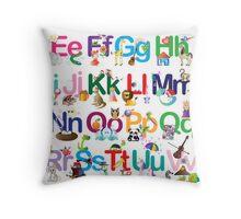 Alphabet for kids Throw Pillow