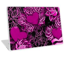 Hearts & Rose Tattoos Laptop Skin