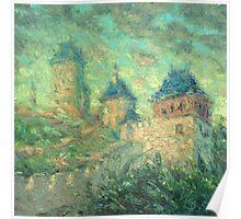 Karlstein Castle / 2012 / oil on canvas Poster