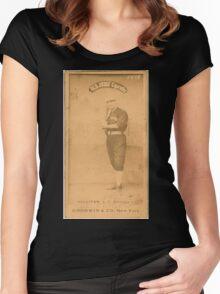 Benjamin K Edwards Collection Marty Sullivan Chicago White Stockings baseball card portrait Women's Fitted Scoop T-Shirt
