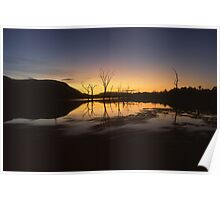 """Somerrise"" ∞ Lake Somerset, QLD - Australia Poster"