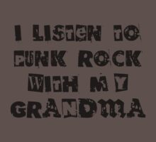 Punk Rock With My Grandma Kids Clothes