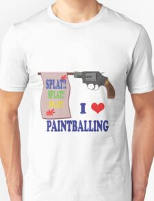 I Love Paint-balling T-Shirt