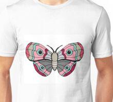 Blue Eyed Pink Moth Unisex T-Shirt
