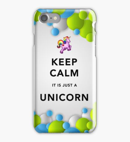 Keep Calm Unicorn Around iPhone Case/Skin