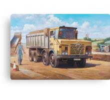 Foden S 50 half-cab tipper. Canvas Print