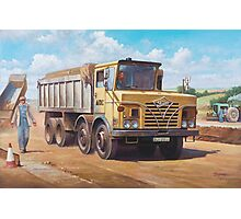 Foden S 50 half-cab tipper. Photographic Print