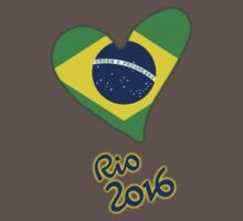 Olympic Heart for Olympic Games in Rio de Janeiro 2016 (B) One Piece - Short Sleeve
