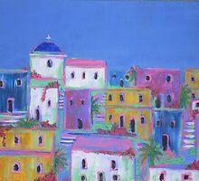 Mediterranean Village by Emily King