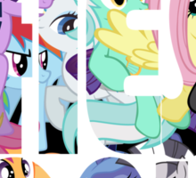 Confound These Ponies (Redux) Sticker