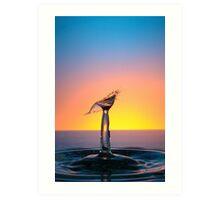 Splashing Water Droplet Art Print