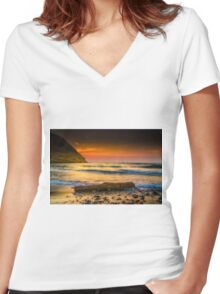 A timber at seaside Women's Fitted V-Neck T-Shirt