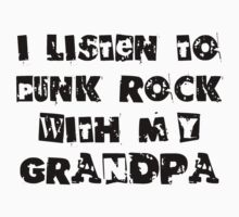 Punk Rock With My Grandpa Kids Clothes