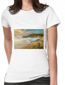 A boat shed at seaside Womens Fitted T-Shirt