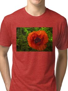 Red Poppy - Vibrant, Bold and Cheerful Tri-blend T-Shirt