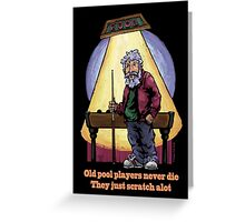 Old Pool Players Greeting Card