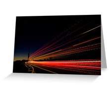 Tail Lights Greeting Card