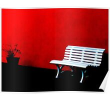 Perspective in Bench White  Poster