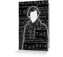 Sherlock BBC: Type Greeting Card