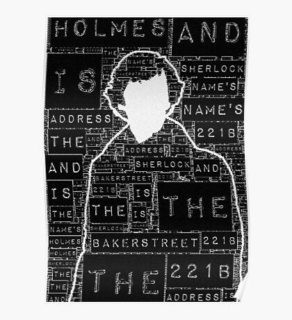 Sherlock BBC: Type Poster