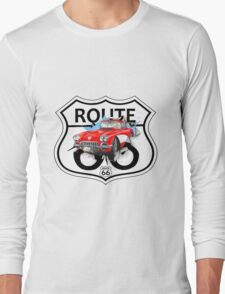 Vintage Route 66 US historic gifts red, white, black Long Sleeve T-Shirt