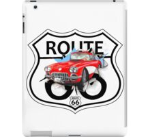 Vintage Route 66 US historic gifts red, white, black iPad Case/Skin